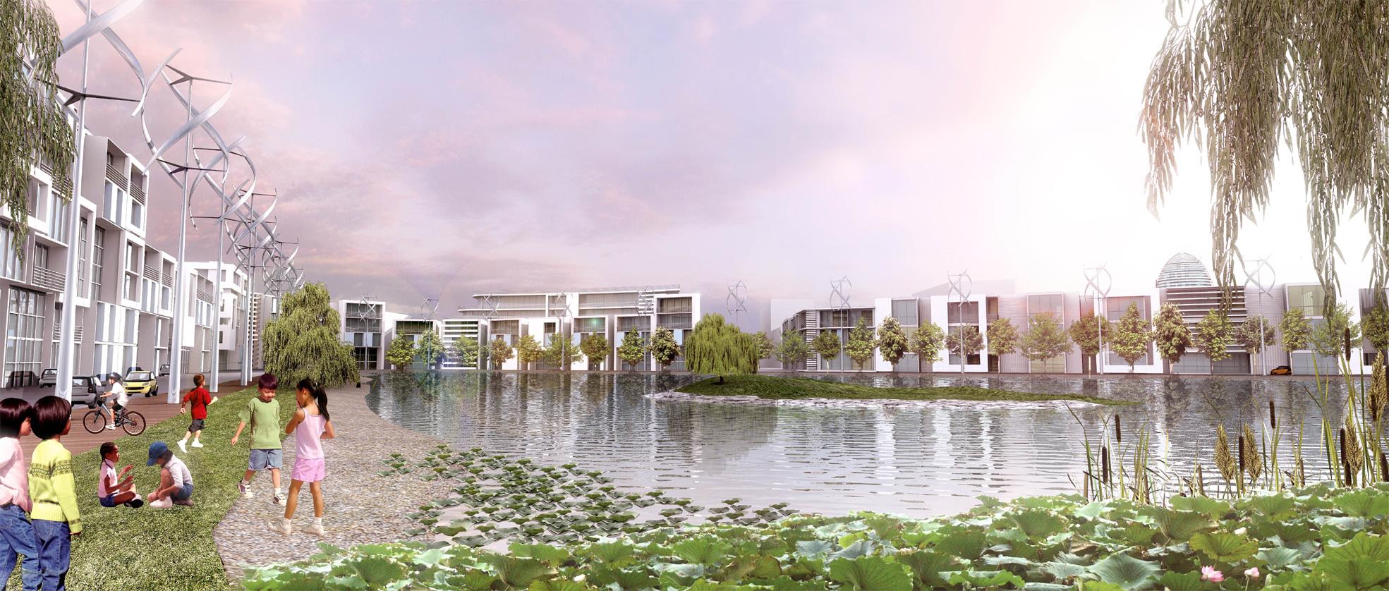 Dongtan Eco City Masterplan Chongming Island Shanghai